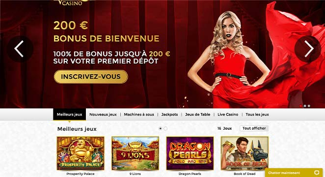 L'Interface de Unique Casino