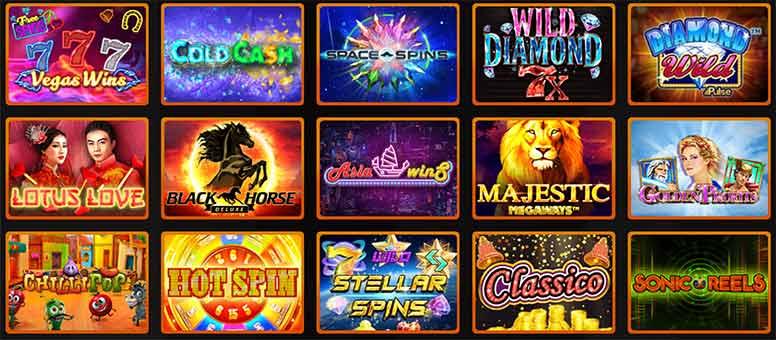 Les jeux du Casino Intense