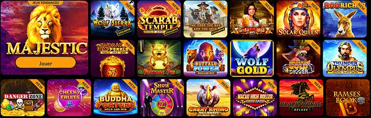 Les jeux du Casino Spin Million
