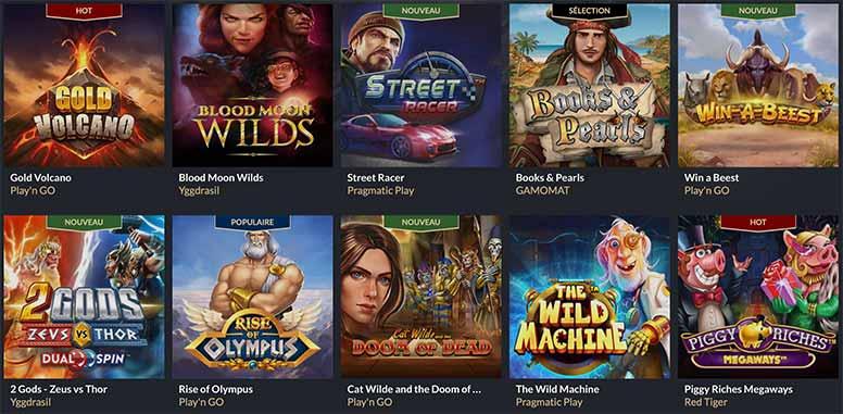 Les jeux du Casino Tortuga