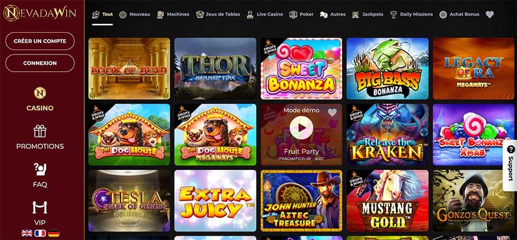 nevada win casino online jeux