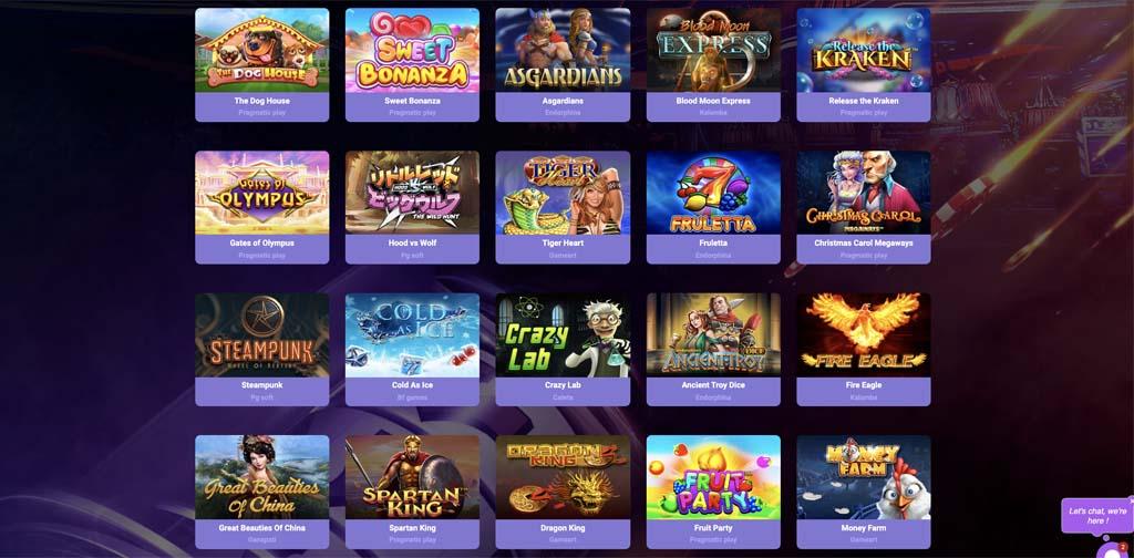 screenshot casinobit games