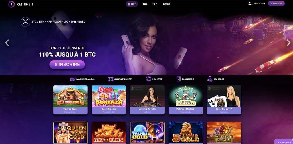 screenshot casinobit interface