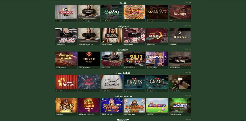 screenshot dublinbet games