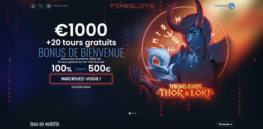 screenshot fireslots interface