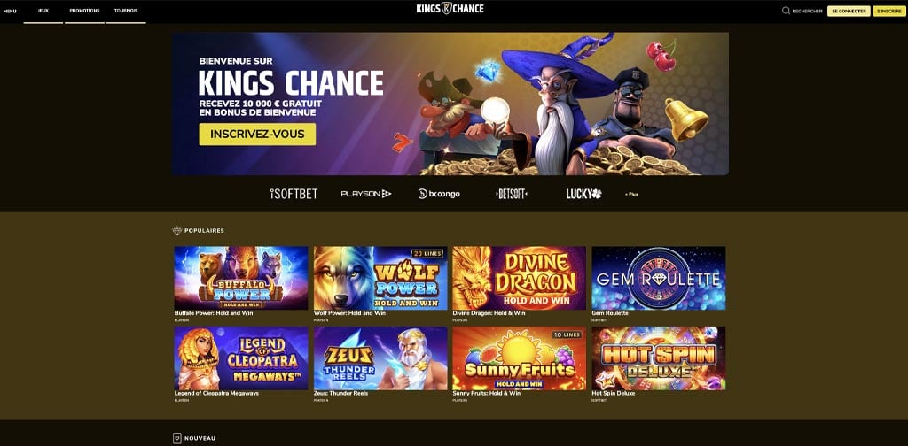 screenshot kings chance interface