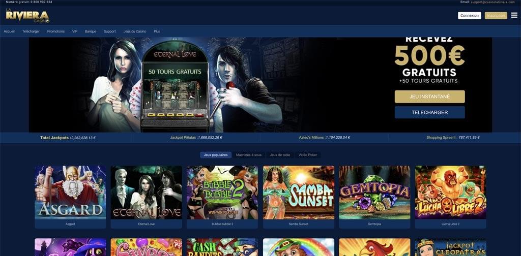 screenshot la riviera interface