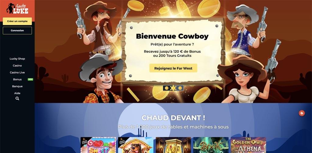 screenshot lucky luke interface